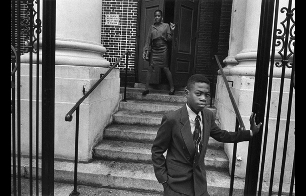 Harvey Stein_Youth in  Front of Harlem Church_(copyright) Harvey Stein 2012