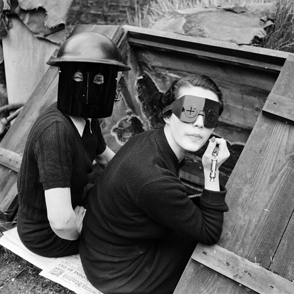 Lee Miller, Fire Masks, Downshire Hill, London, England, 1941 © Lee Miller Archives, England 2015