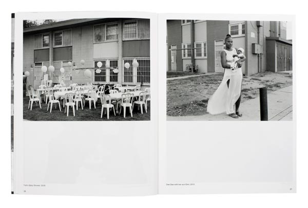 Spread from Dana Lixenberg's photobook Imperial Courts, 2015