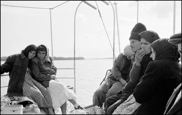 Inge Morath, On board a boat in the Danube, between Galatzi and Tulcea, Romania, 1958 © The Inge Morath Foundation. Courtesy Magnum Photos