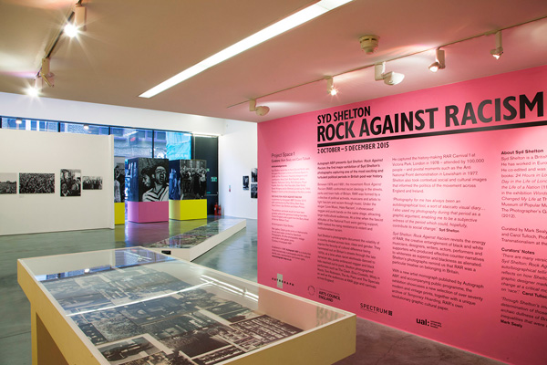 Rock Against Racism installation view, Autograph ABP, Rivington Place, London 2015. Photo: ©Zoë Maxwell. Courtesy of Autograph ABP