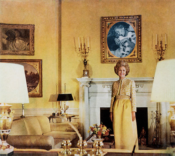 Martha Rosler, First Lady (Pat Nixon), from the series House Beautiful: Bringing the War Home, ca. 1967–72© Martha Rosler, courtesy of the artist and Mitchell-Innes & Nash, NY