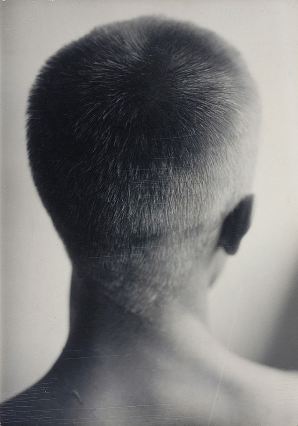 Hazel Larsen Archer, Ray Johnson (back of head), ca. 1947–48 © the Estate of Hazel Larsen Archer and courtesy Black Mountain College Museum + Arts Center