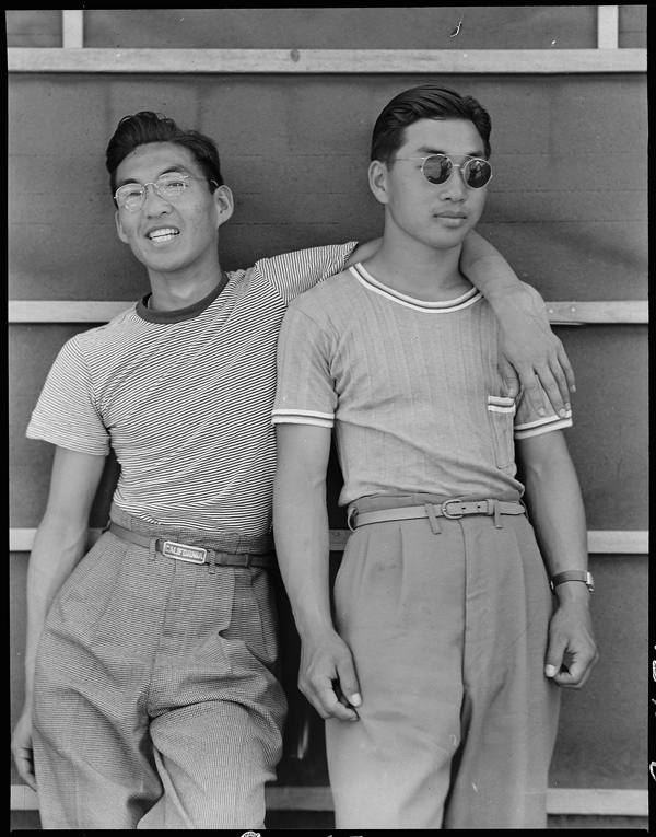 Dorothea Lange, College students of Japanese ancestry who have been evacuated from Sacramento to the Assembly Center, Sacramento, California, 1942Courtesy National Archives