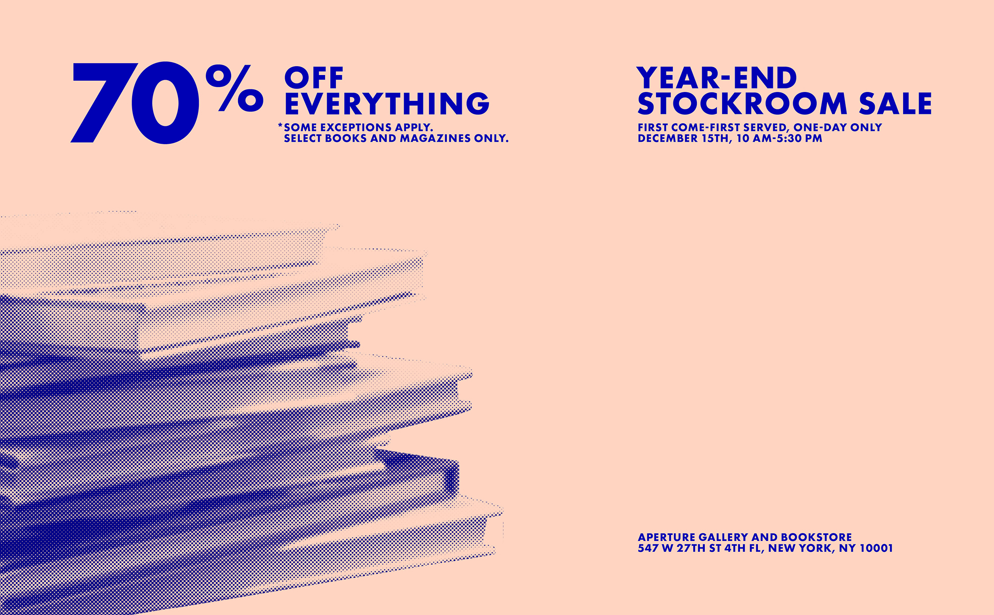 Stockroom Sale — 70% Off Everything