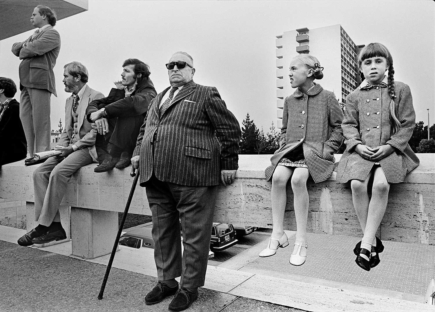 Michael Jang, Onlookers at the George Moscone Funeral, 1978