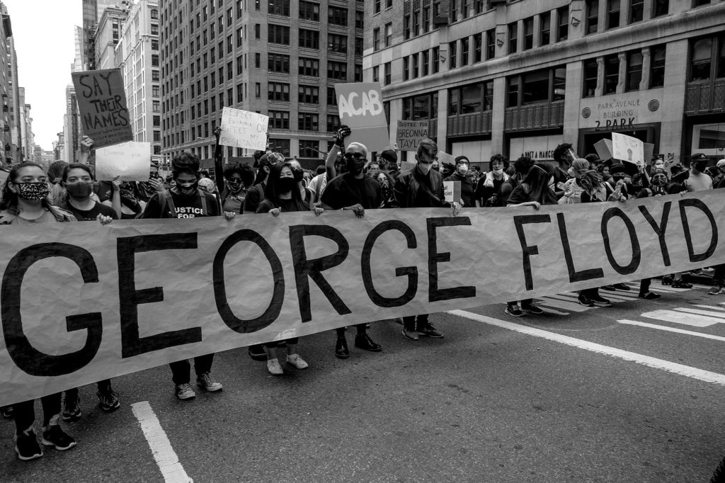 Fanta Diop, Protestors peacefully march from Union Square to 86th Street in New York City, 2020